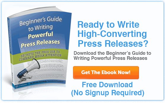free ebook Beginner's Guide to Writing Powerful Press Releases