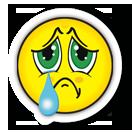 sad face with big teardrop