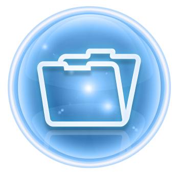 Folder icon ice, isolated on white background