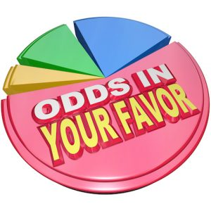 Odds in Your Favor Pie Chart Advantage Competition