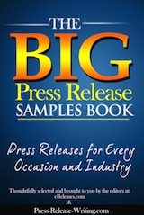 Free Big Press Release Samples Book from eReleases